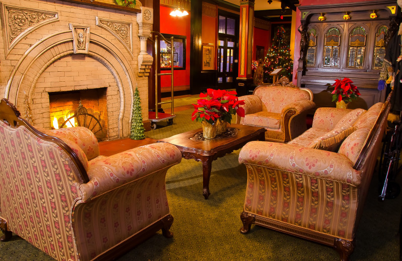 Lobby at 1886 Crescent Hotel & Spa.