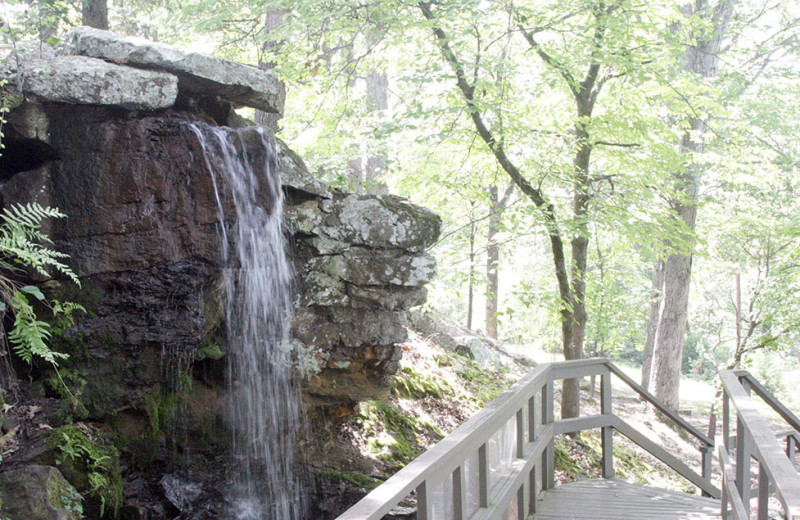 Waterfall at Red Apple Inn and Country Club.