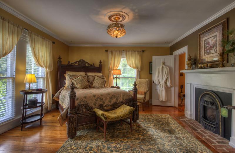 Guest room at Chestnut Hill Wedding & Reception Venue.
