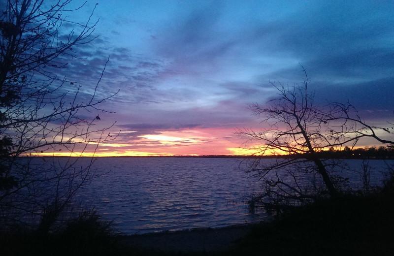Sunset at Fraser's Arbor Resort.