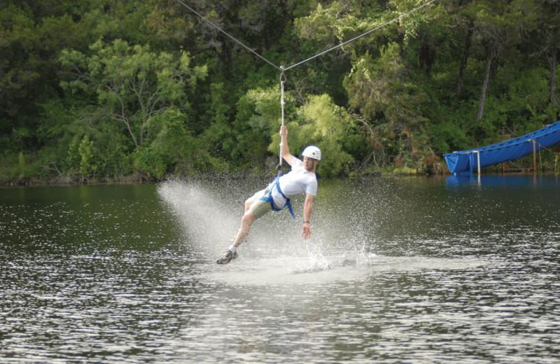 Water skiing at The Retreat at Balcones Springs.