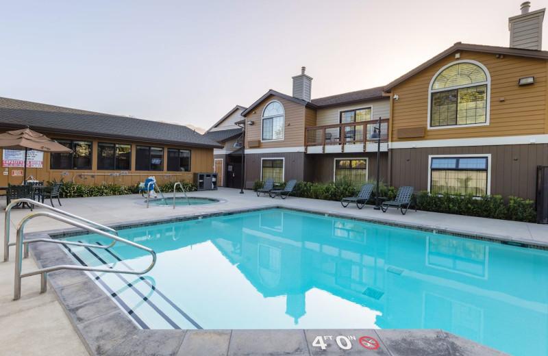 Outdoor pool at Best Western Plus Stevenson Manor.