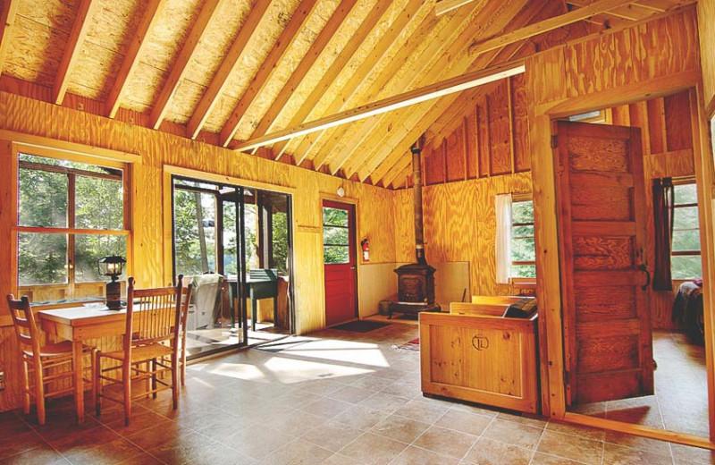 Cabin interior at Timberlock.