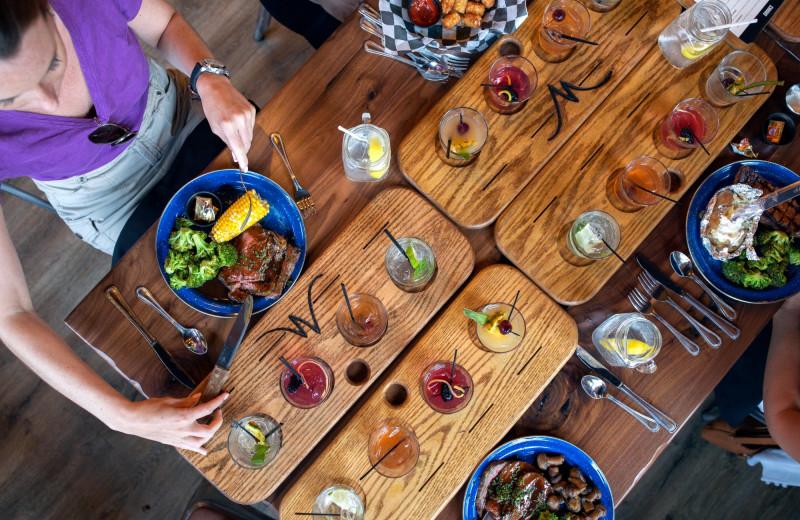 Dining at Massanutten Resort.