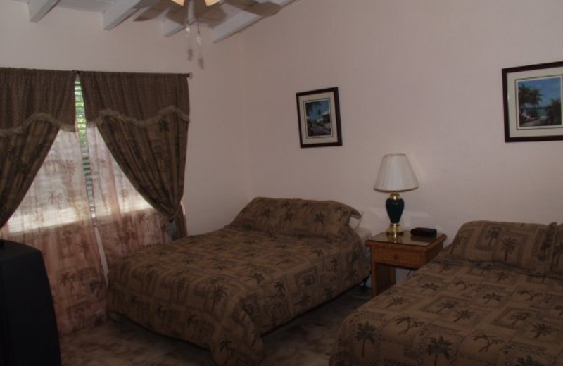 Guest bedroom at Lookout Lodge Resort.