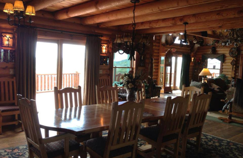Dining room at Pine Lakes Lodge.