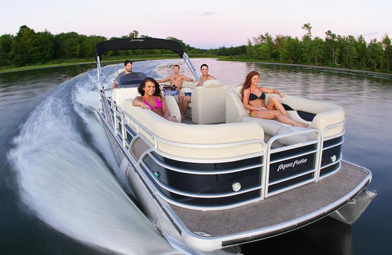 Pontoon rental at Popp's Resort.
