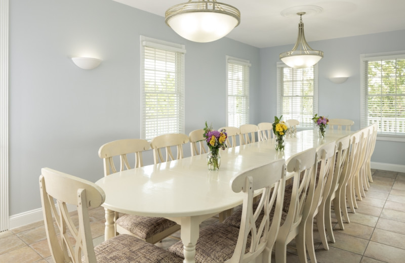 Rental dining room at Jersey Cape Realty
