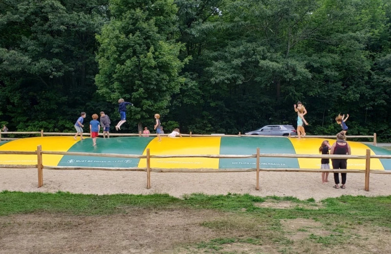 Jump pad at Yogi Bear's Jellystone Park™ Camp-Resort Glen Ellis.