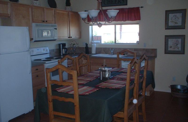 Rental kitchen at Fountain Hill Condo Rental.