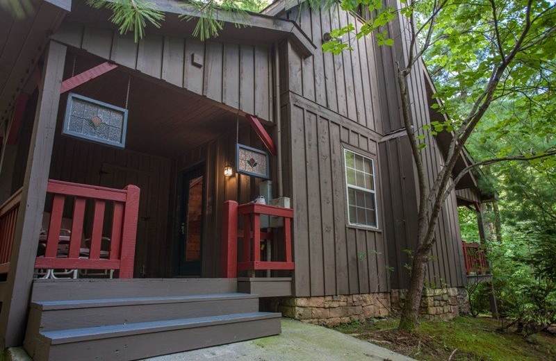 Rental exterior at Wilderness View Cabins.