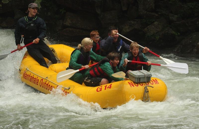River rafting at Nantahala River Lodge.