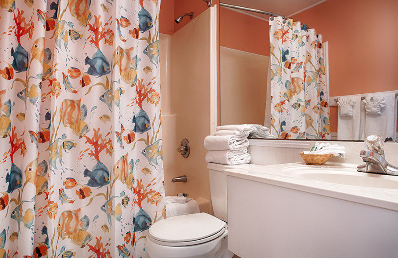 Guest bathroom at The Winds Resort Beach Club.