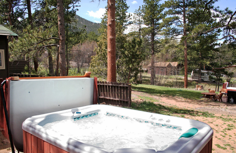 Cottage jacuzzi at Lazy R Cottages.