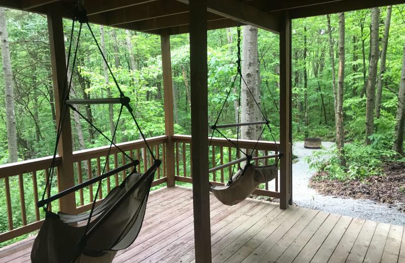 Cabin deck at Aspen Ridge.