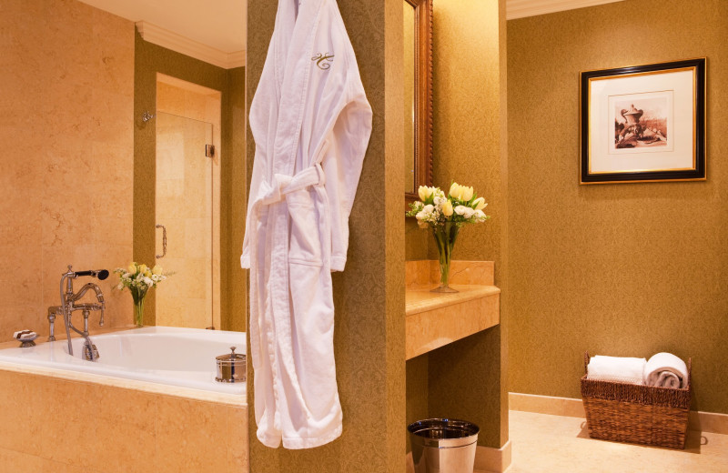 Suite bathroom at Hotel Commonwealth.