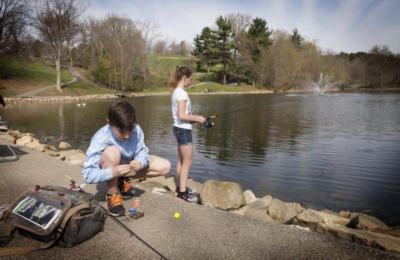 Fishing at Oglebay Resort and Conference Center.