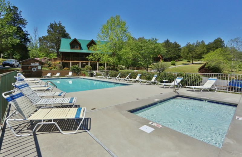Outdoor pool at Little Valley Mountain Resort.