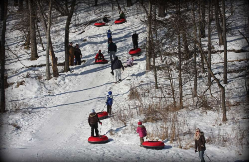 Snow tubing at Cedar Valley Resort.