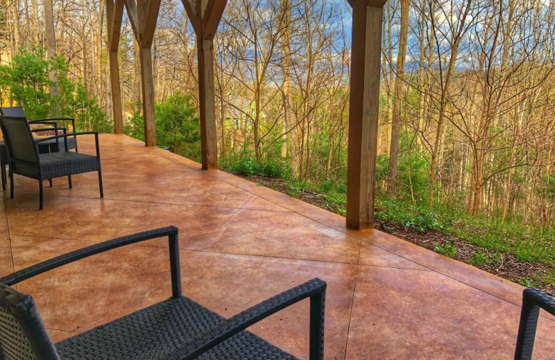 Patio at Asheville Mountain House.