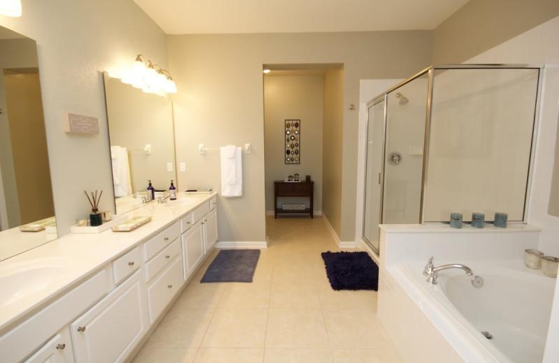 Rental bathroom at Orlando Luxury Escapes Vacation Rentals.