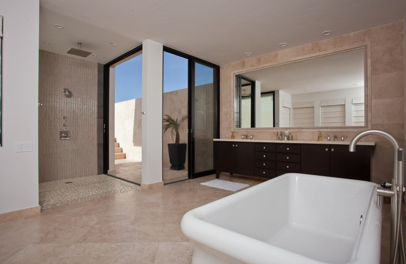 Rental bathroom at Sun Cabo Vacations.