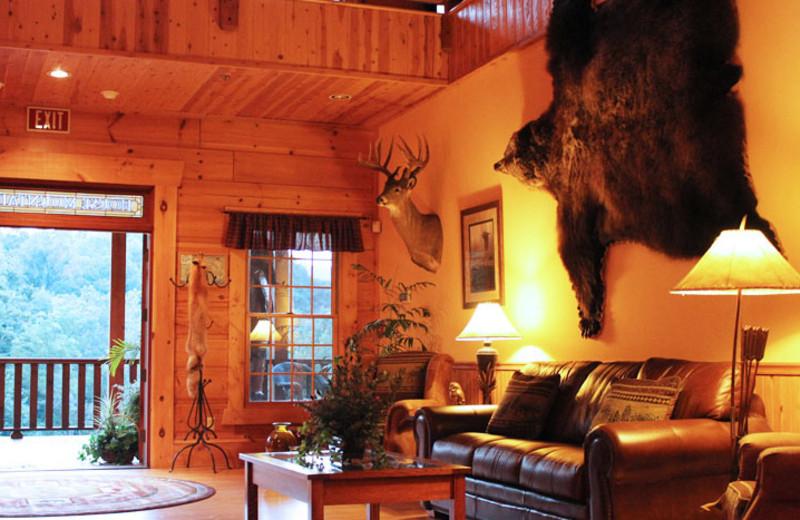 The lobby at House Mountain Inn.