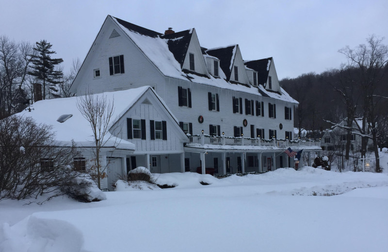 Winter at Echo Lake Inn.