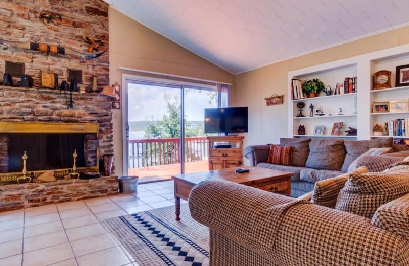 Living room at Moores Hidden Cove Retreat.