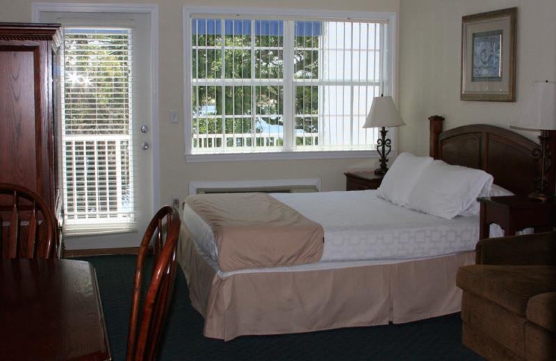 Guest room at Marina Bay Resort.