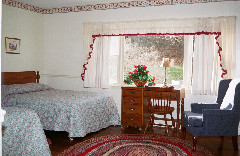 Guest room at Winter Clove Inn.