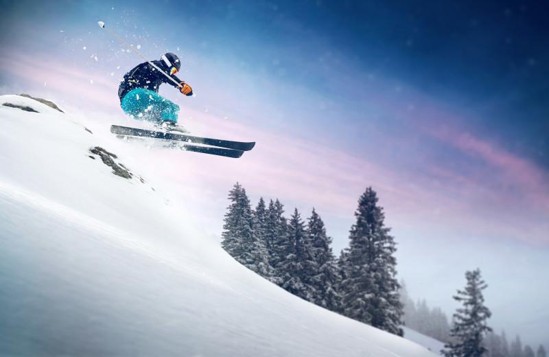 Skiing at Aspen Square Condominium Hotel.