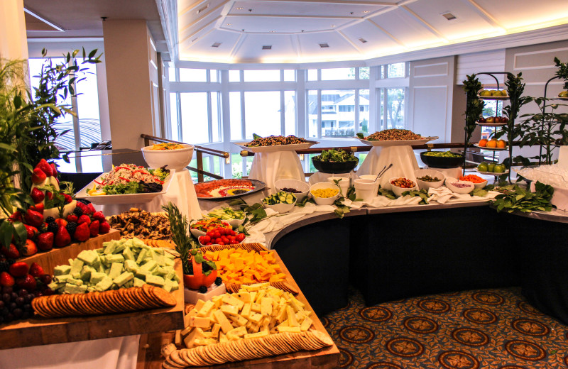 Buffet at Waters Edge Resort and Spa.