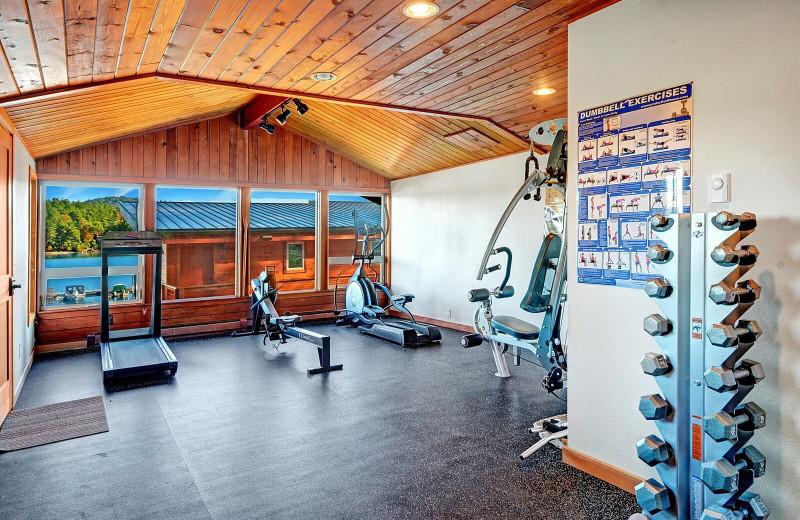 Fitness room at Snug Harbor Marina Resort.
