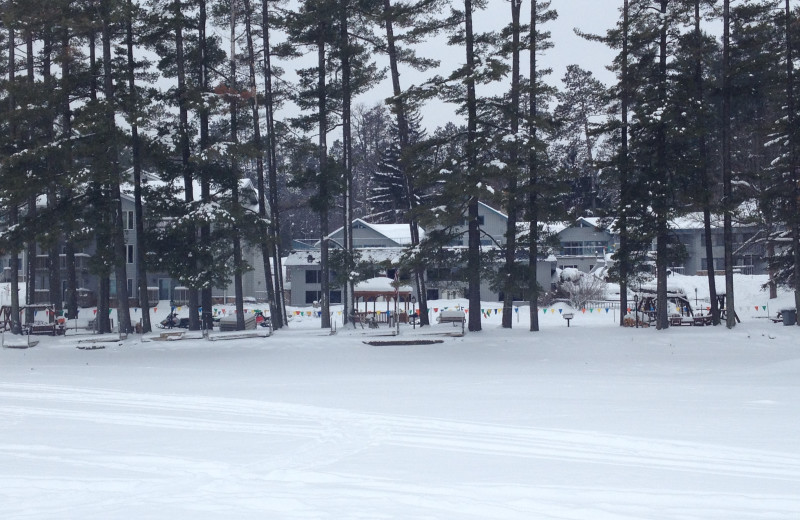 Winter time at The Beacons of Minocqua.