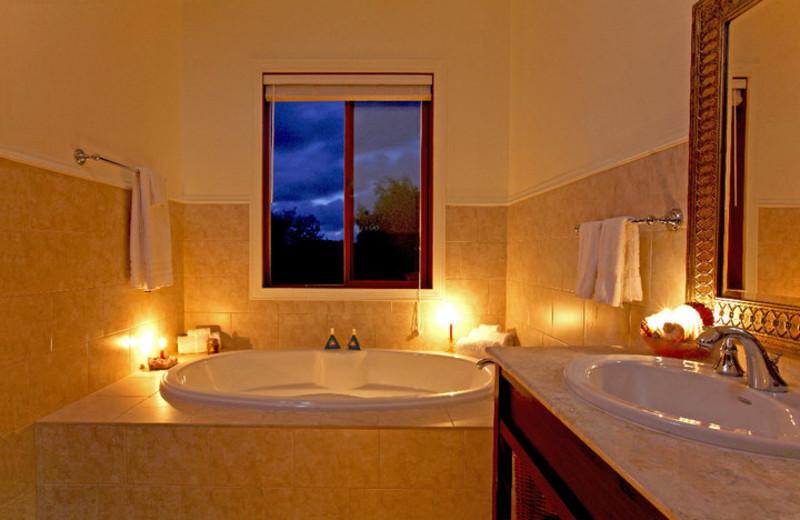 Guest bathroom at Hawaii Island Retreat.