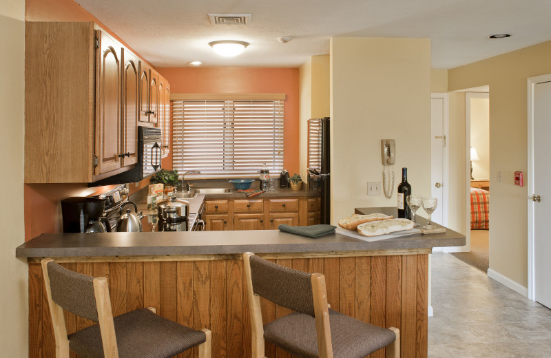 Guest kitchen at Summit Resort.