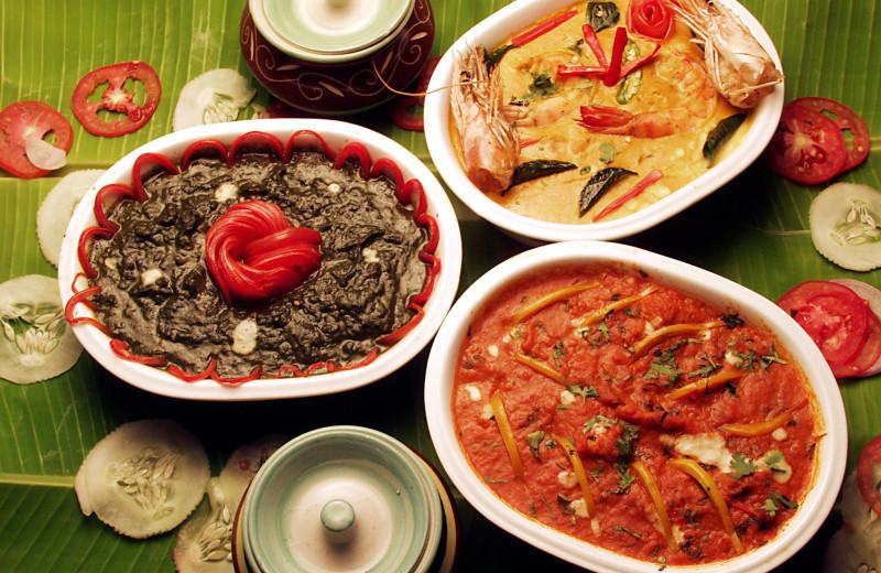 Dining at Shakthi Hill Resorts.