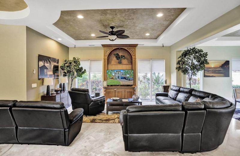Rental living room at Walker Vacation Rentals.