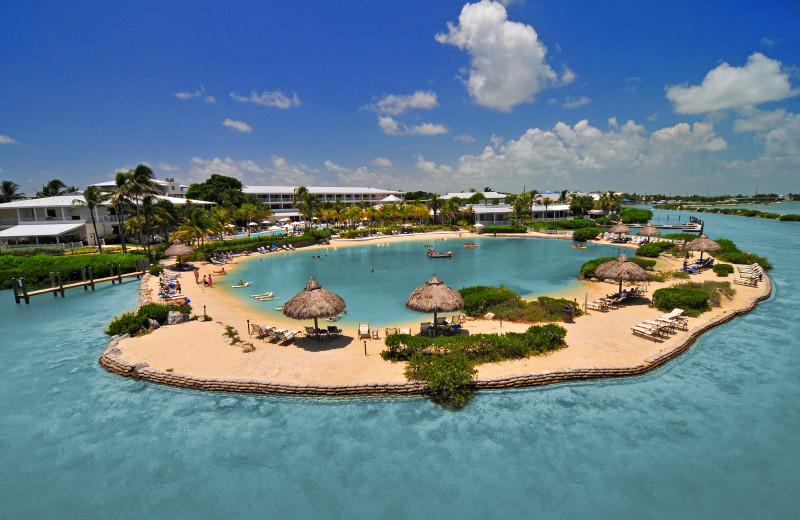 The beach at Hawks Cay Resort.