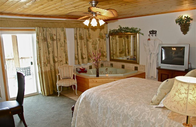 Guest room at Echo Canyon Spa Resort.