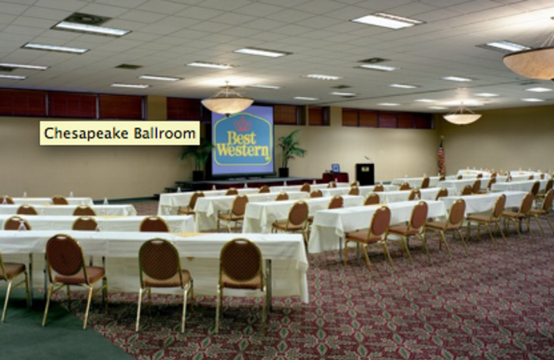 The Chesapeake Ballroom can accommodate events up to 500 people at Best Western Baltimore.