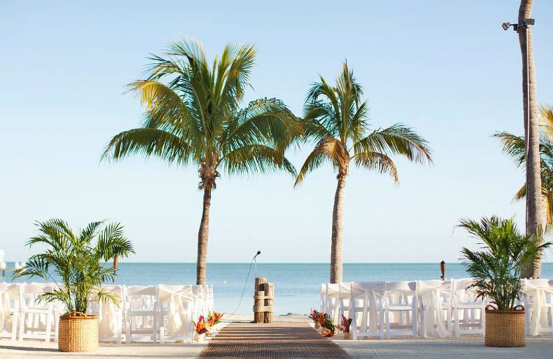 Wedding on the beach at Cheeca Lodge & Spa.