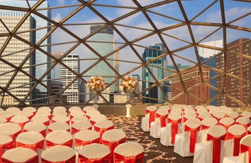 Wedding ceremony at Millennium Hotel Minneapolis.