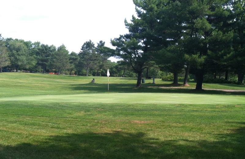 Golfing at Rainbow Golf Club.