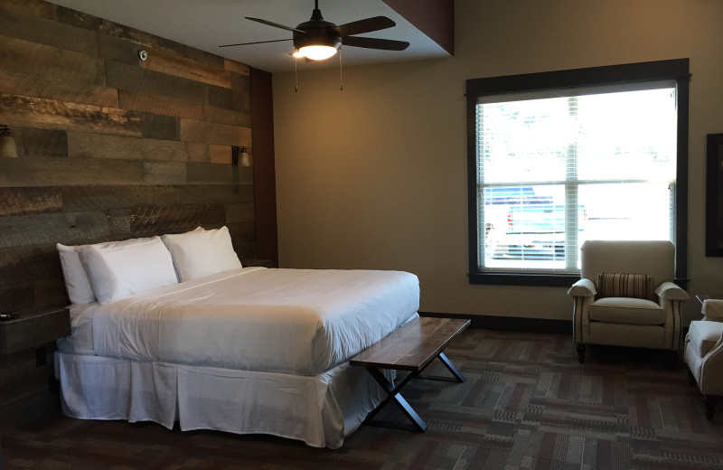 Guest bedroom at Antlers Resort.