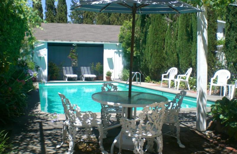 Outdoor pool at A Victorian Garden Inn.