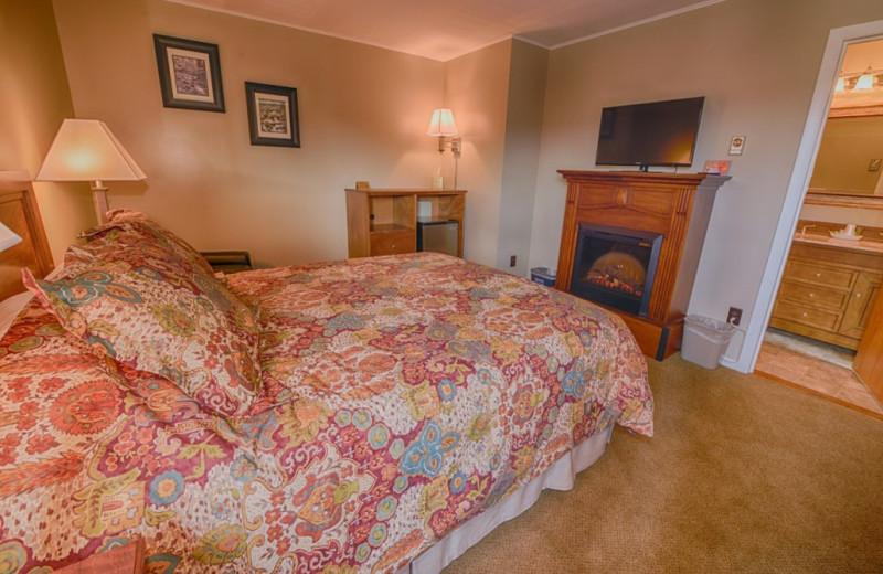 Guest room at Placid Bay Inn.