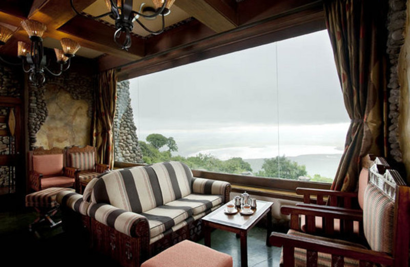 Lounge at Ngorongoro Serena Safari Lodge.