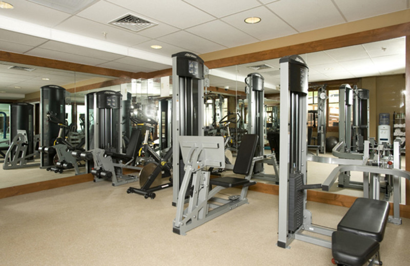 Fitness room at One Ski Hill Place.